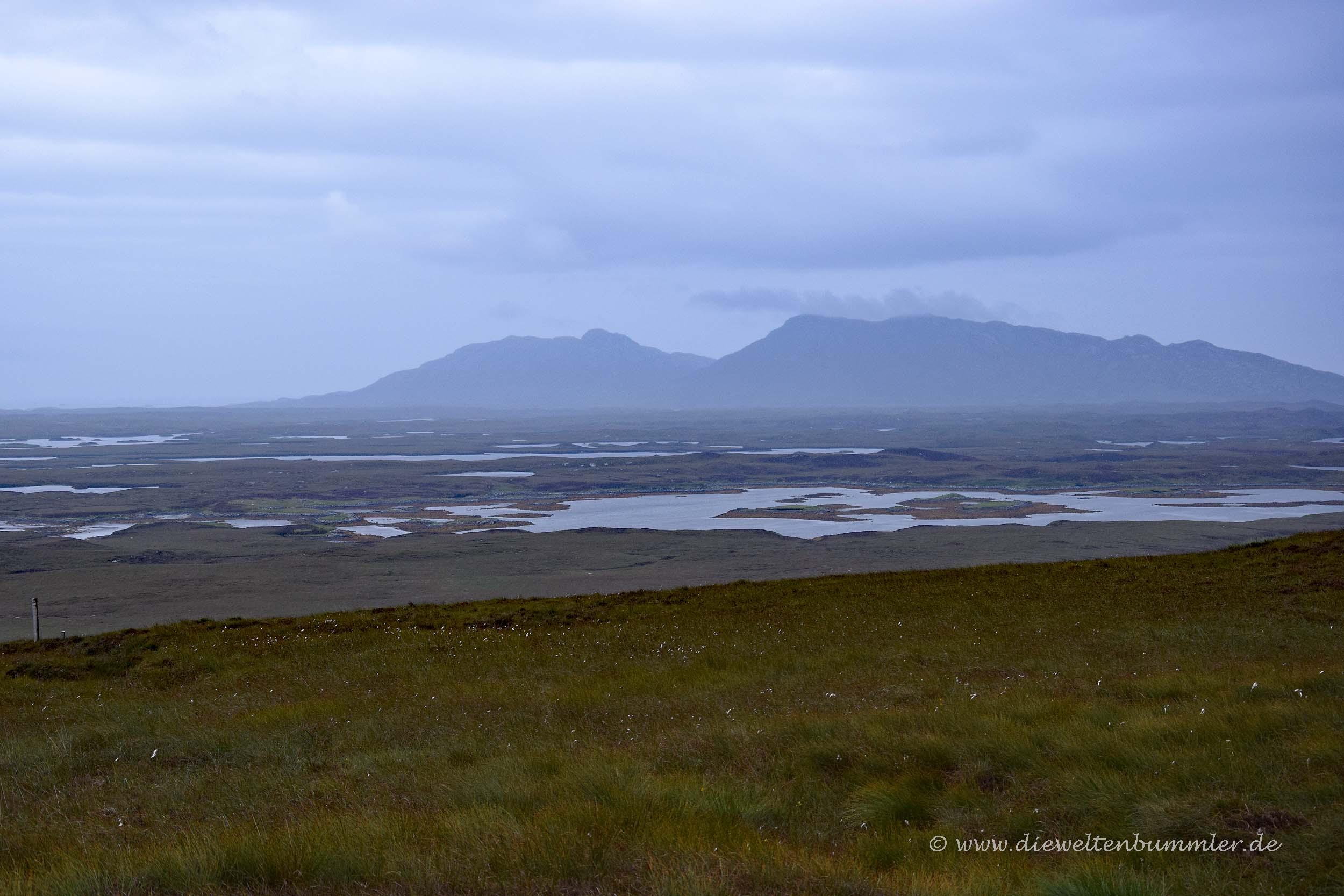 Karge Landschaft auf North Uist