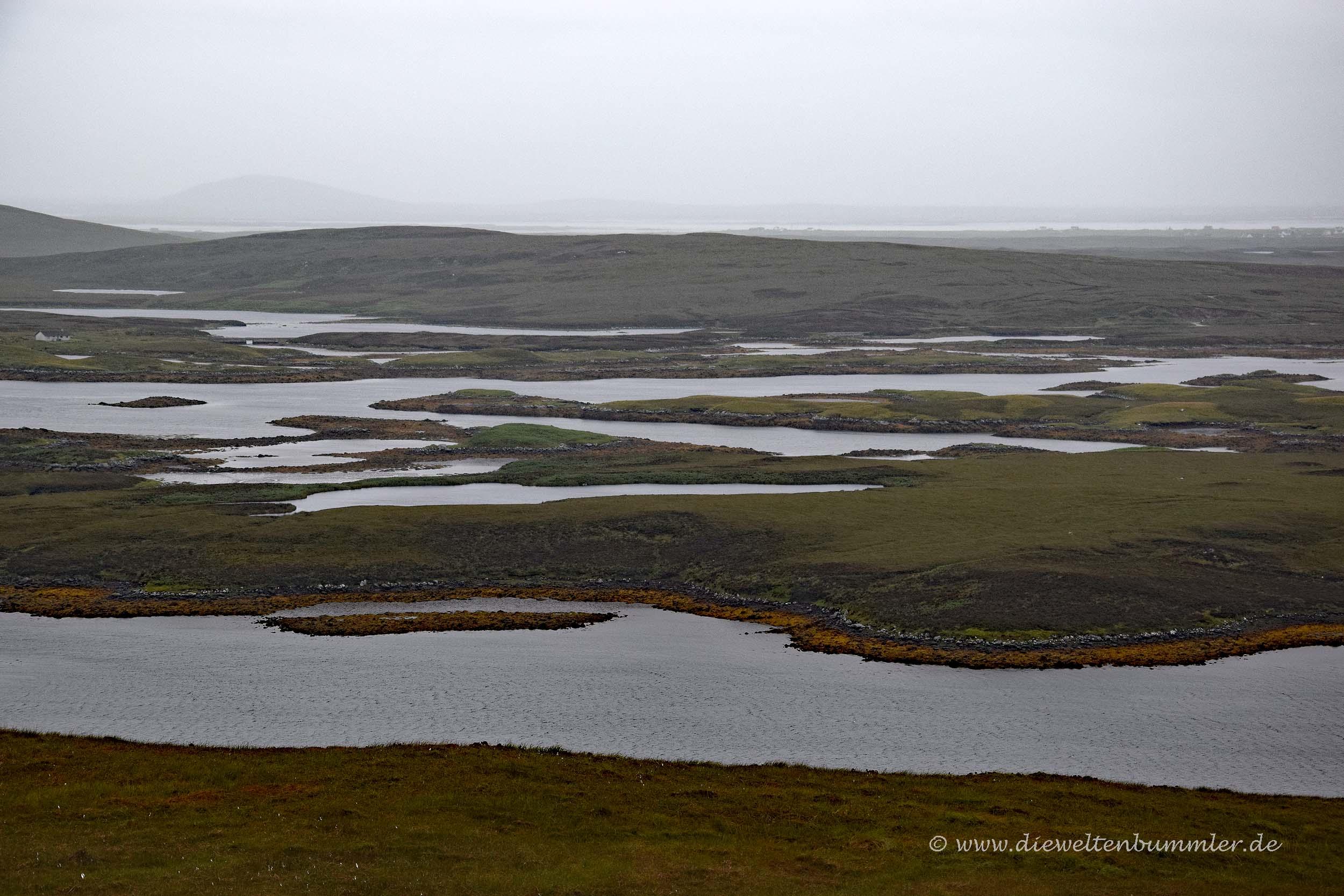 North Uist mit vielen Seen