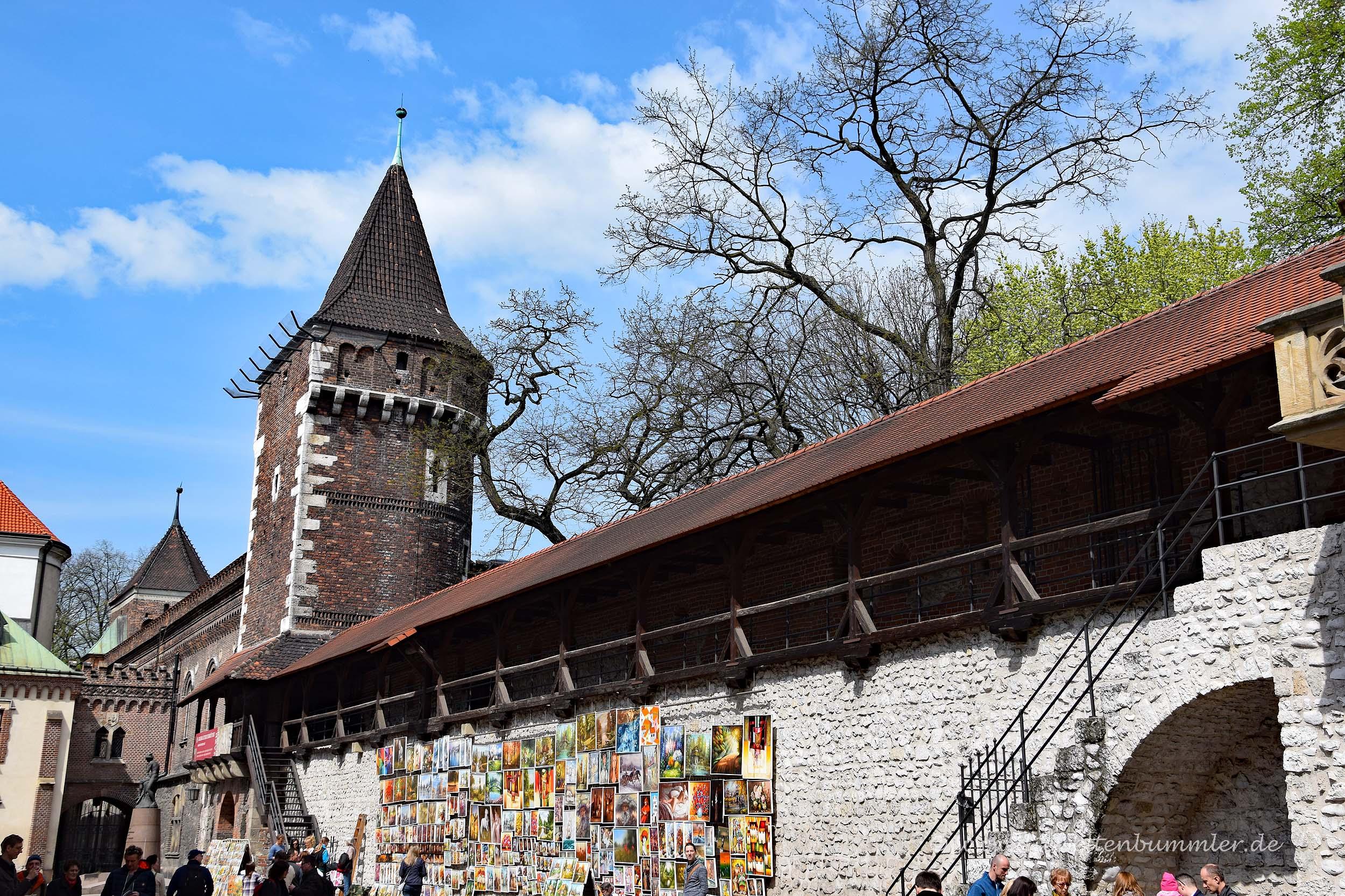 Stadtmauer in Krakau