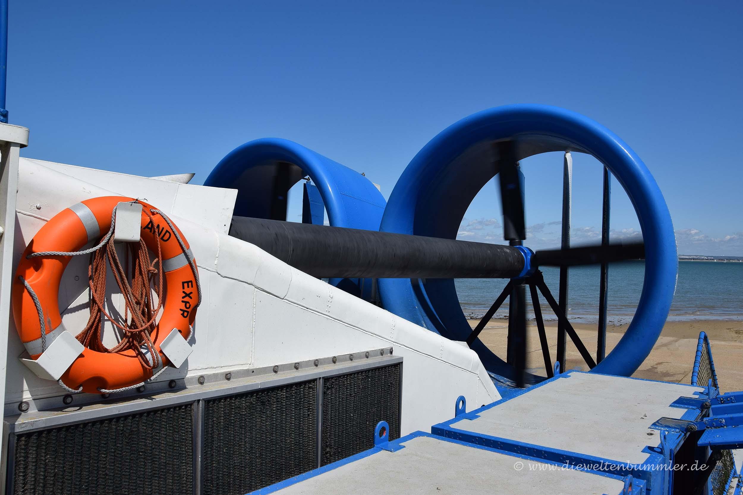 Turbinen vom Luftkissenboot