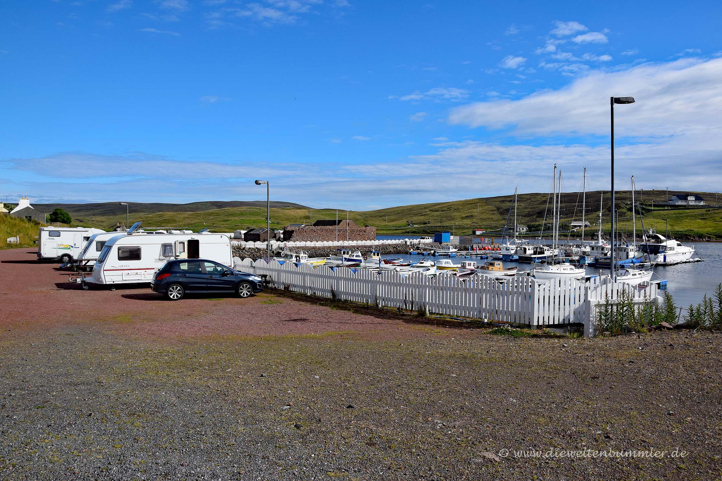 Wohnmobilstellplatz auf den Shetlands