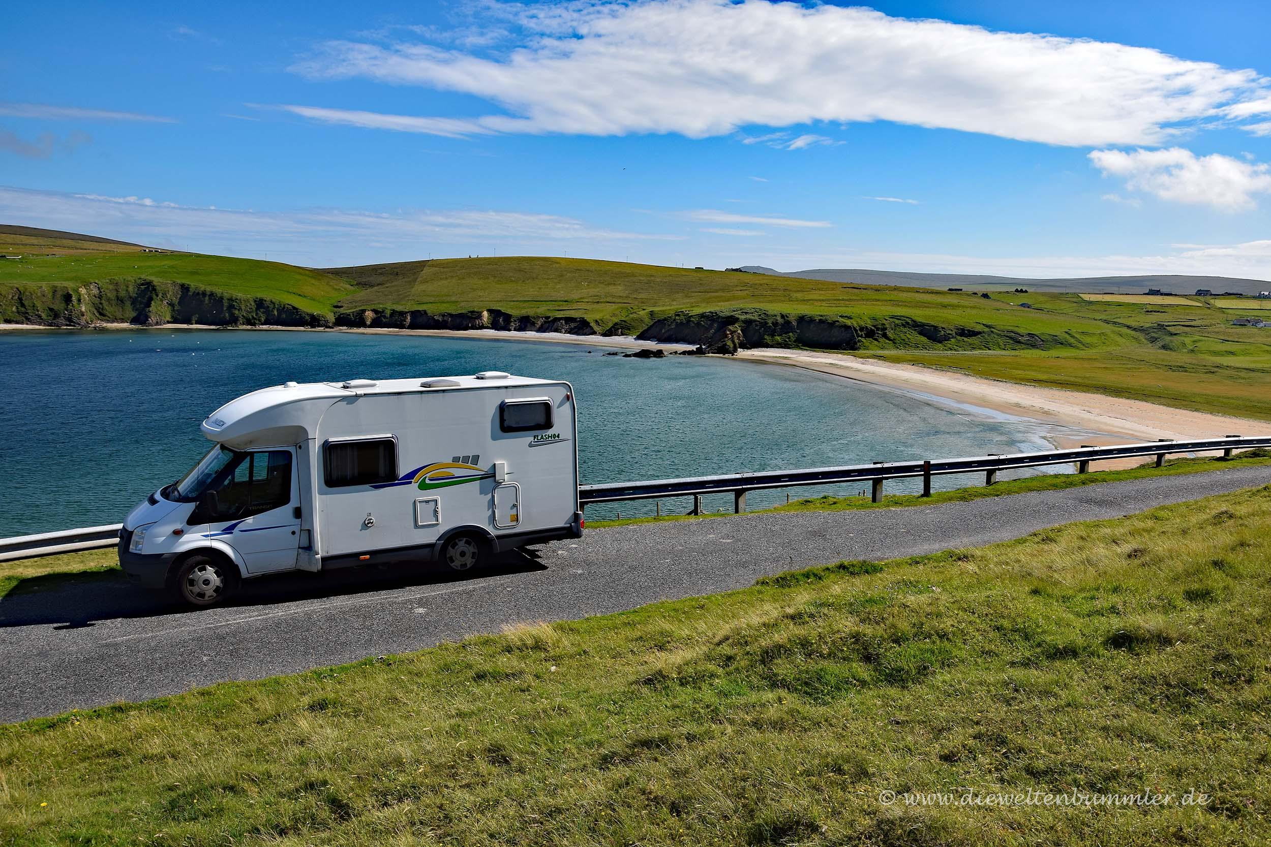 Womo auf Shetland