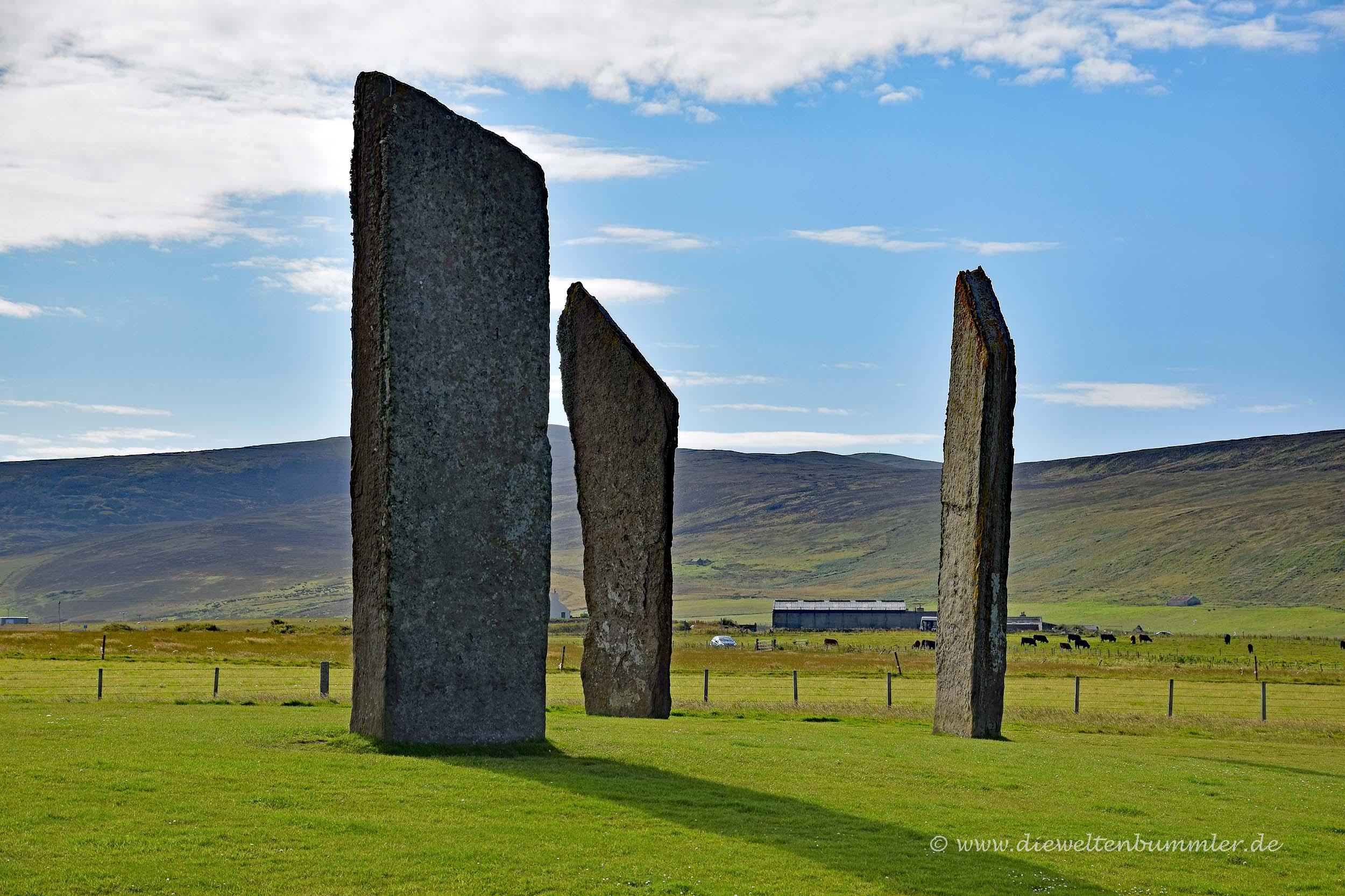 Über fünf Meter hoch sind die Stones of Stennes
