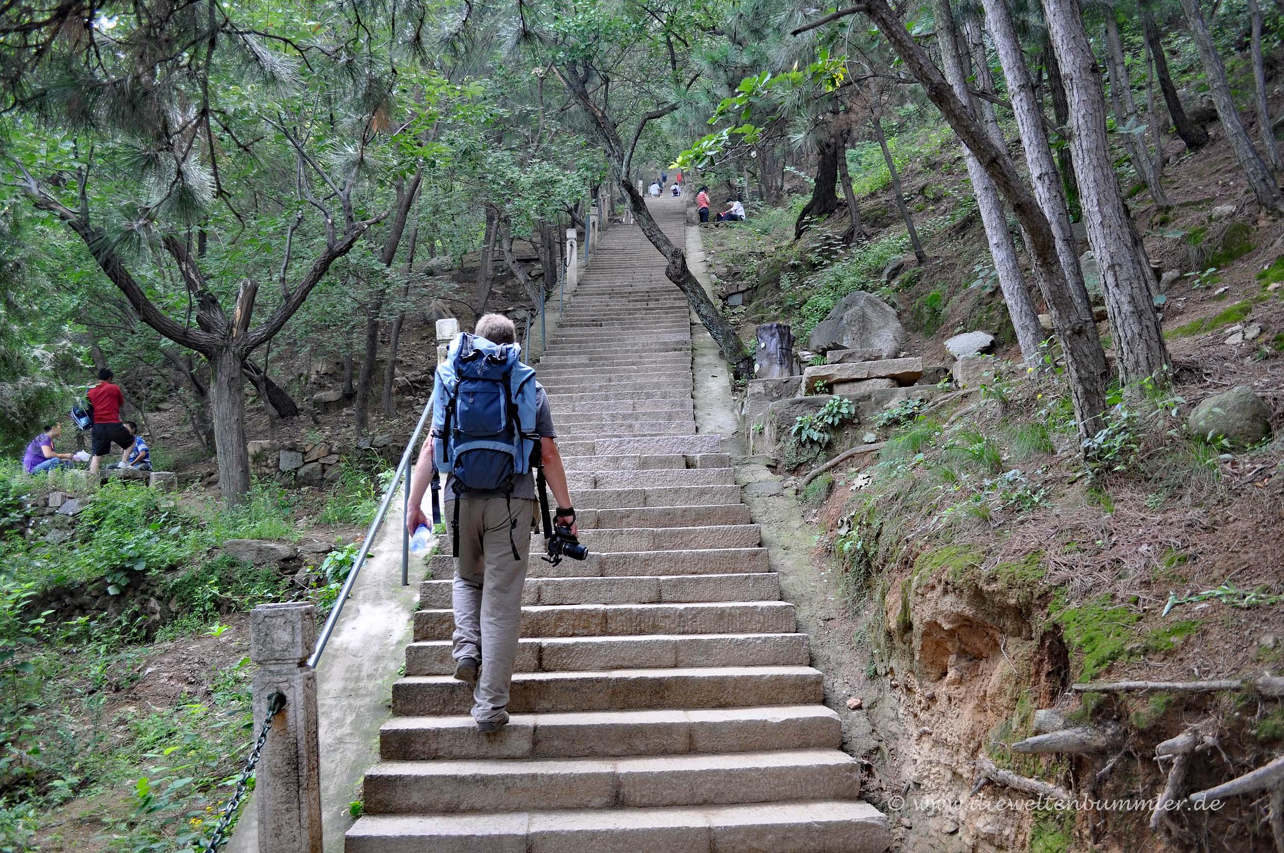 Aufstieg nach Mutianyu
