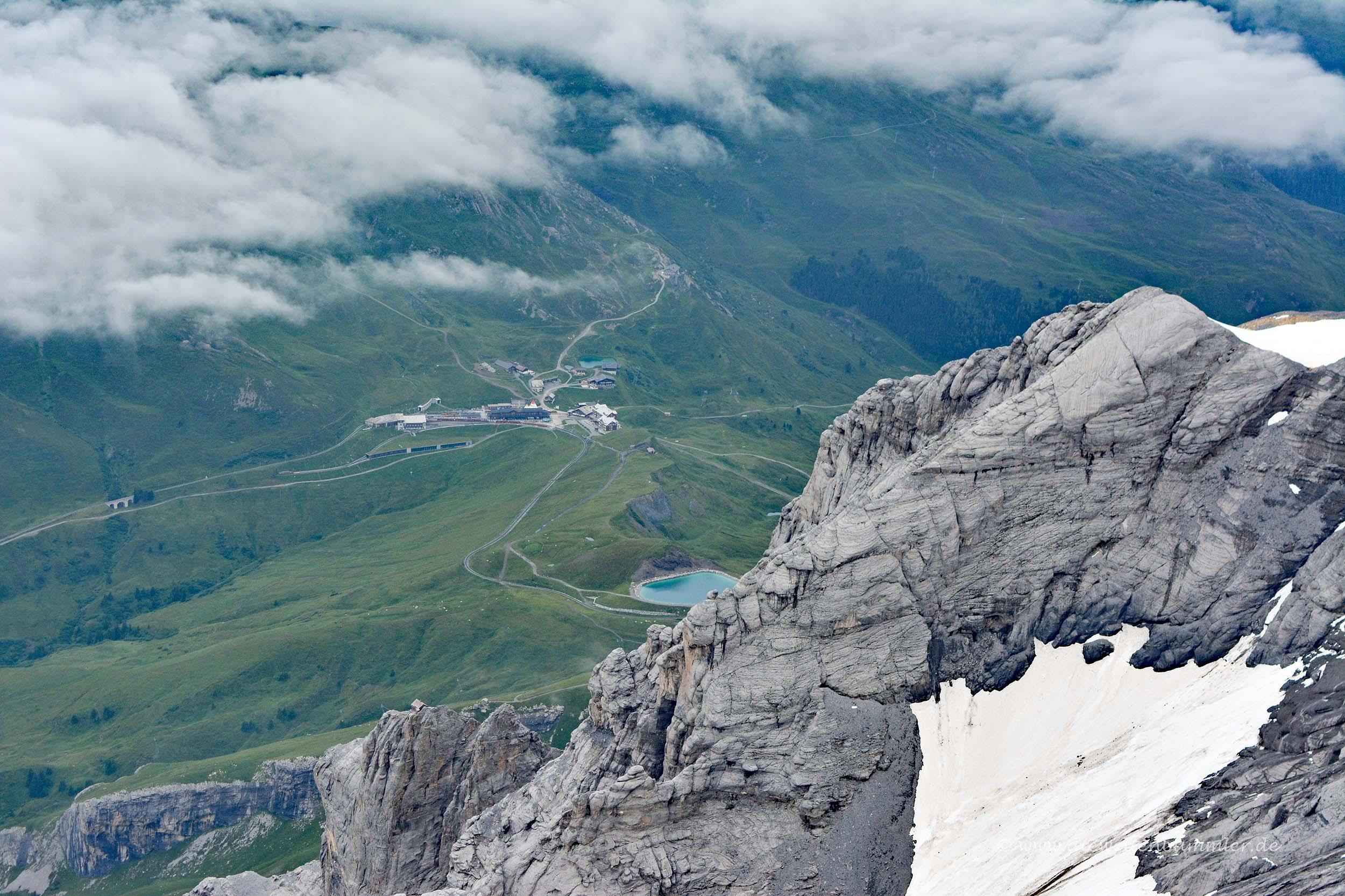 Blick auf den Fallbodensee vom Jungfraujoch aus