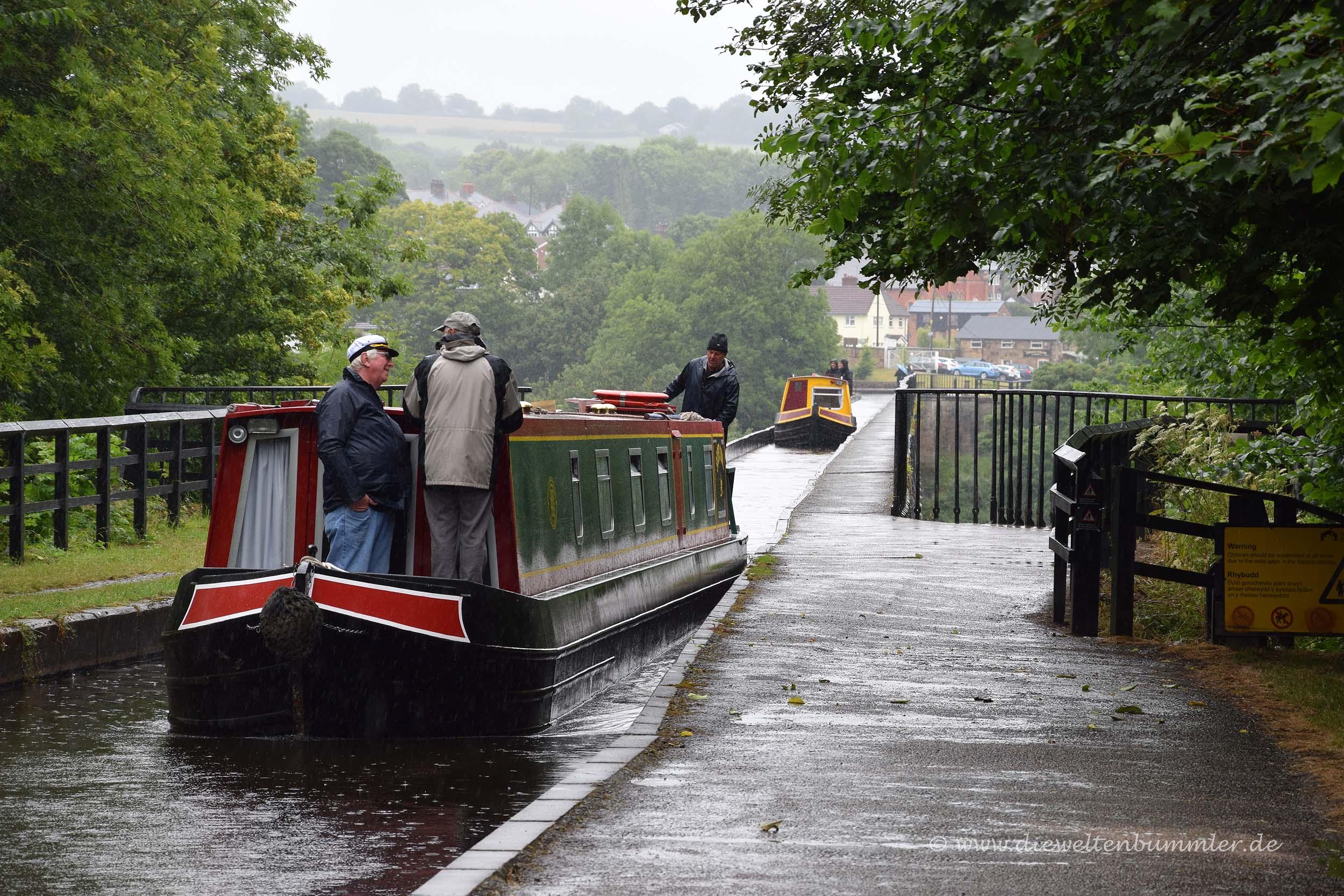 Boot im Langollen-Kanal