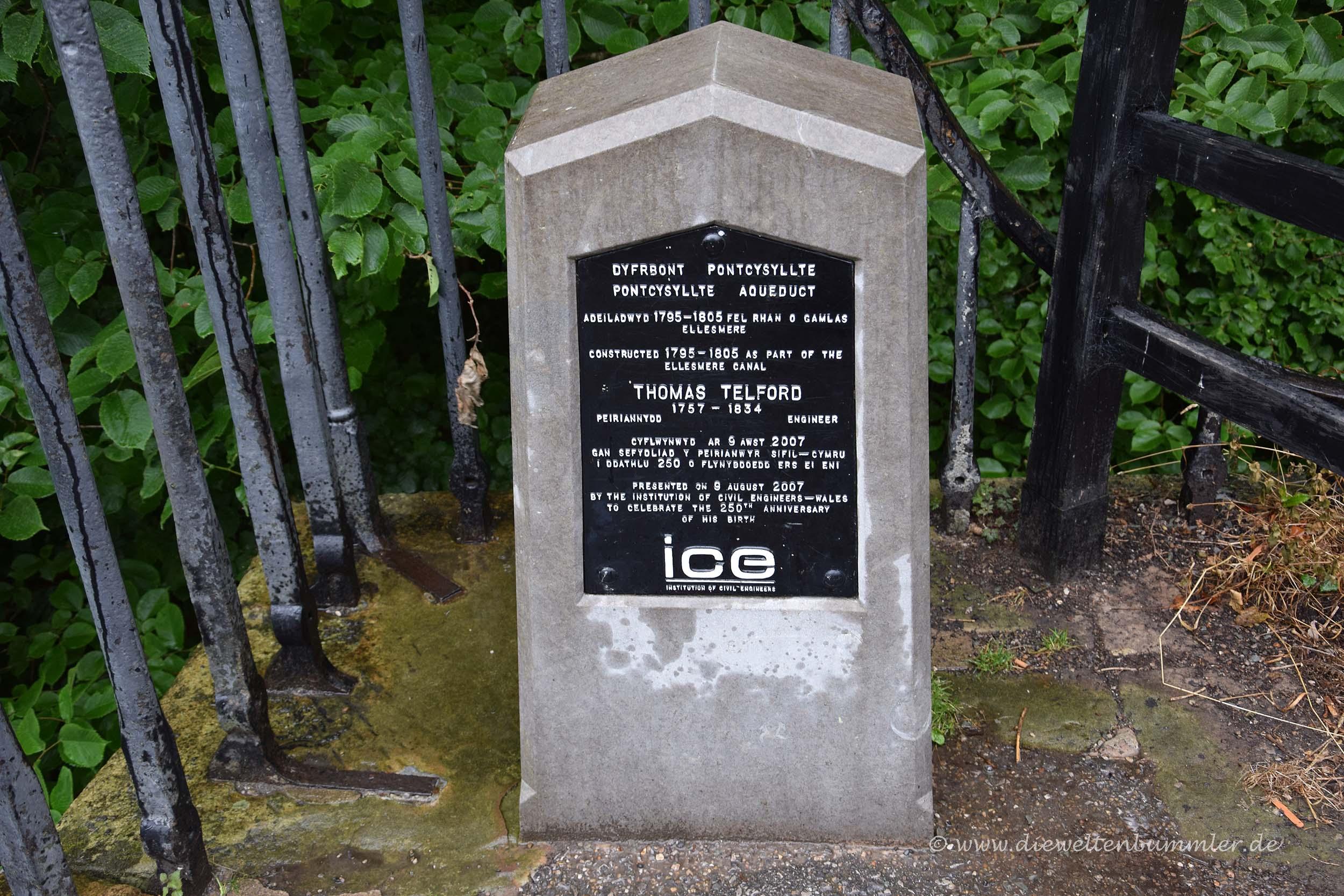 Denkmal für den Architekten Thomas Telford