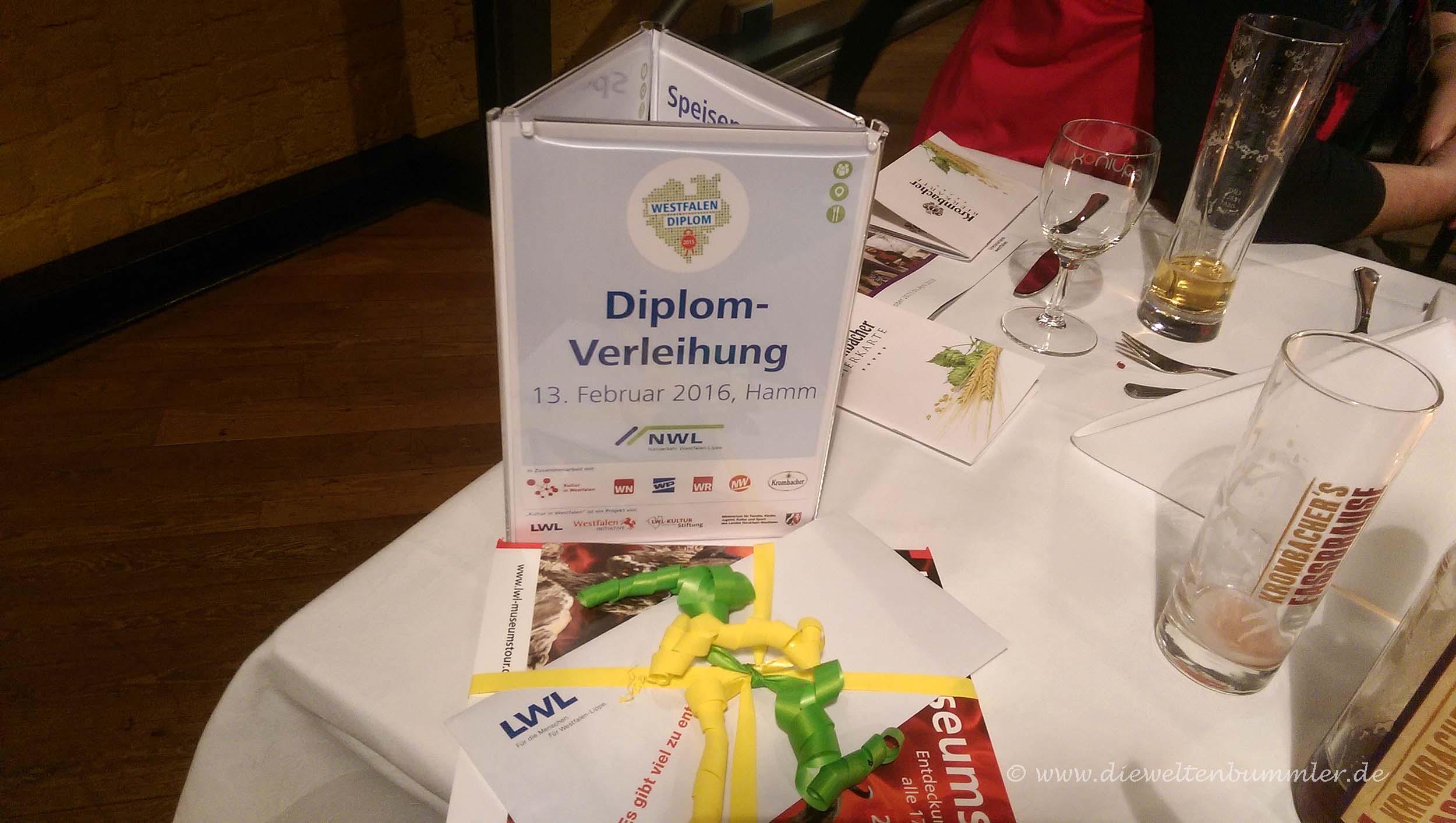 Diplom-Verleihung