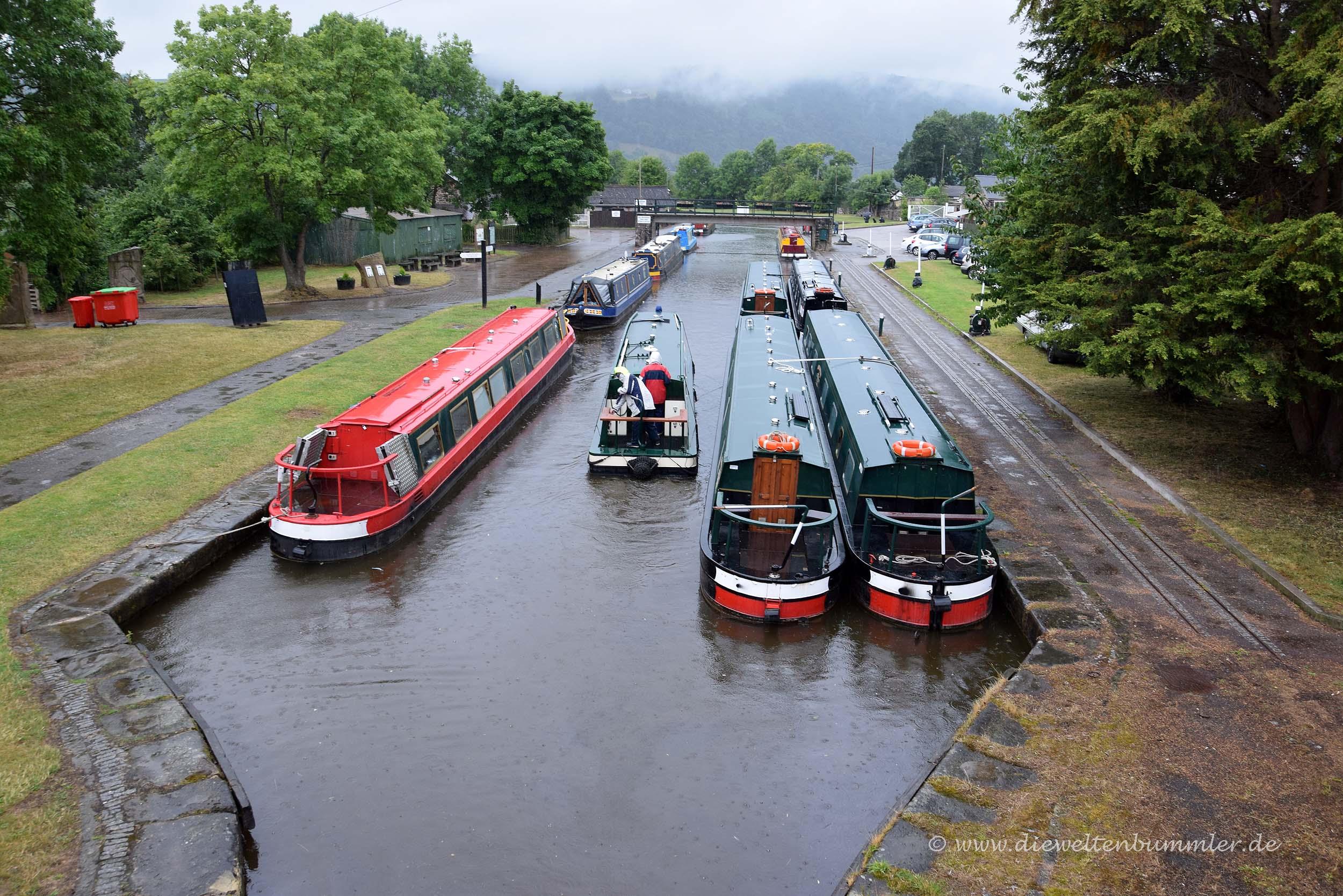 Hafen am Langollen-Kanal