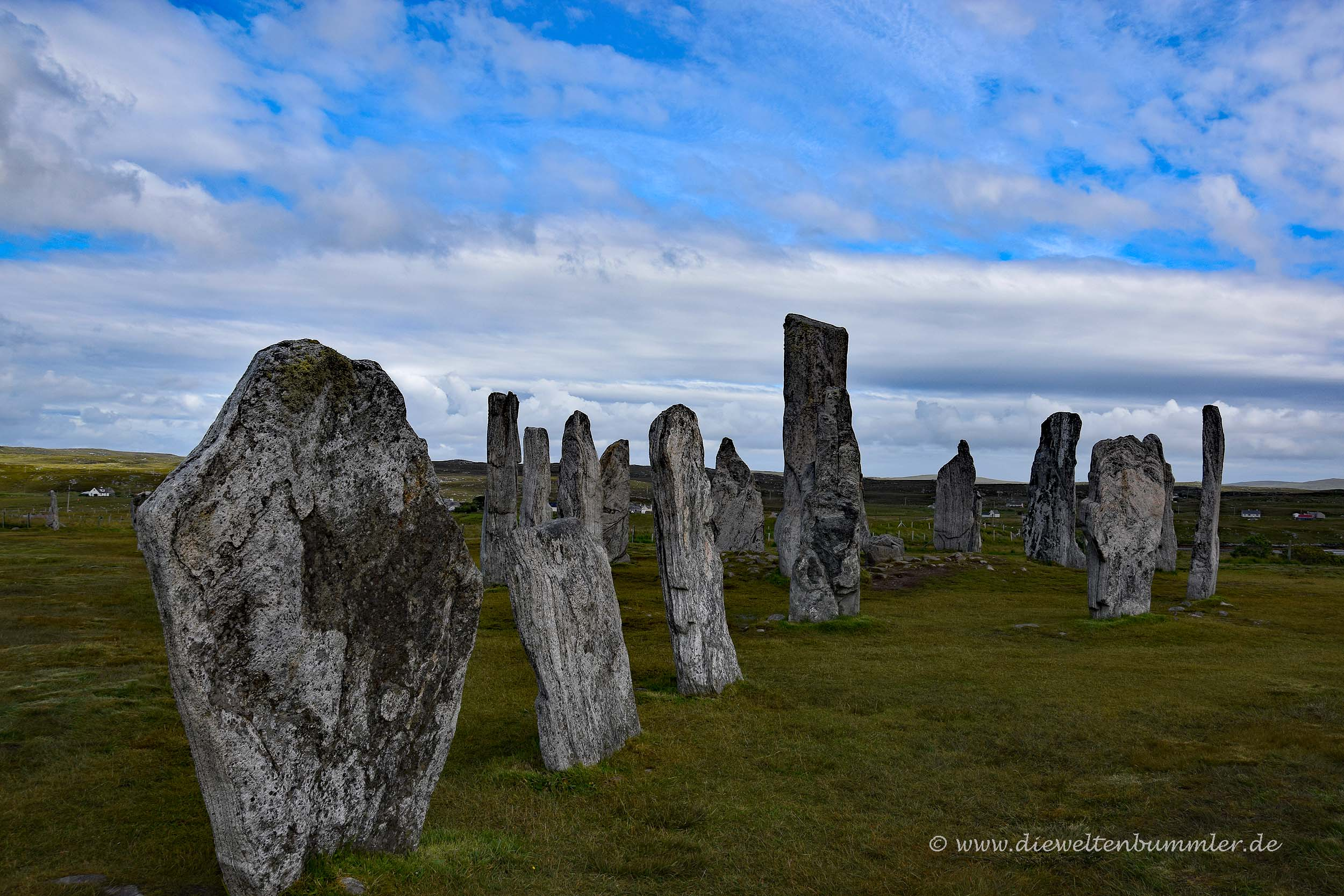 In Kreuzform stehen die Callanish-Stones