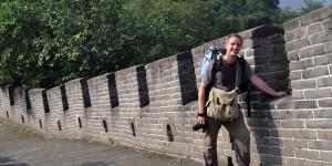 Michael Moll auf der chinesischen Mauer