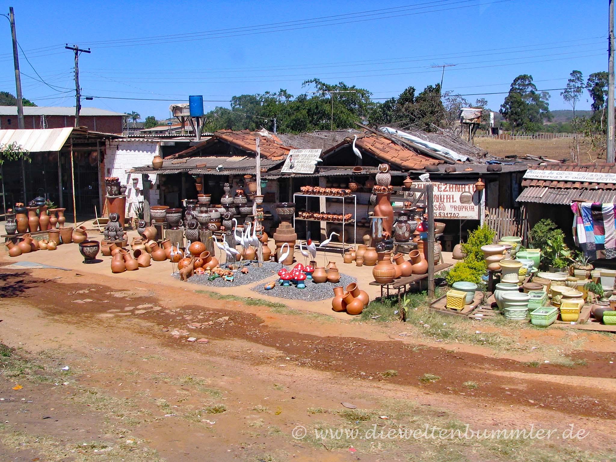 Straßenhändler in Brasilien