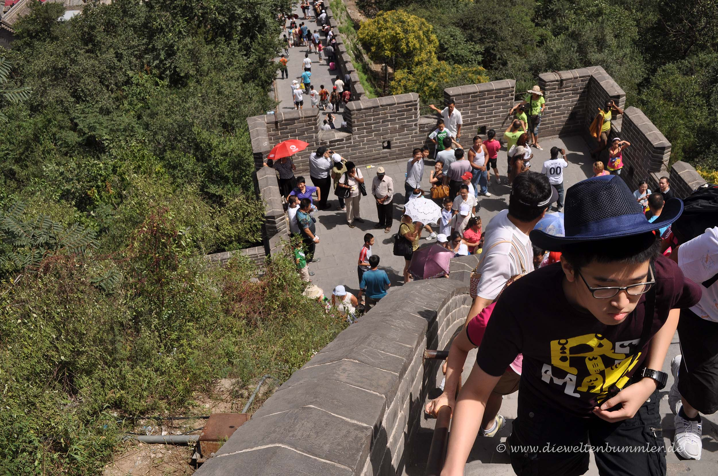 Touristen in Badaling