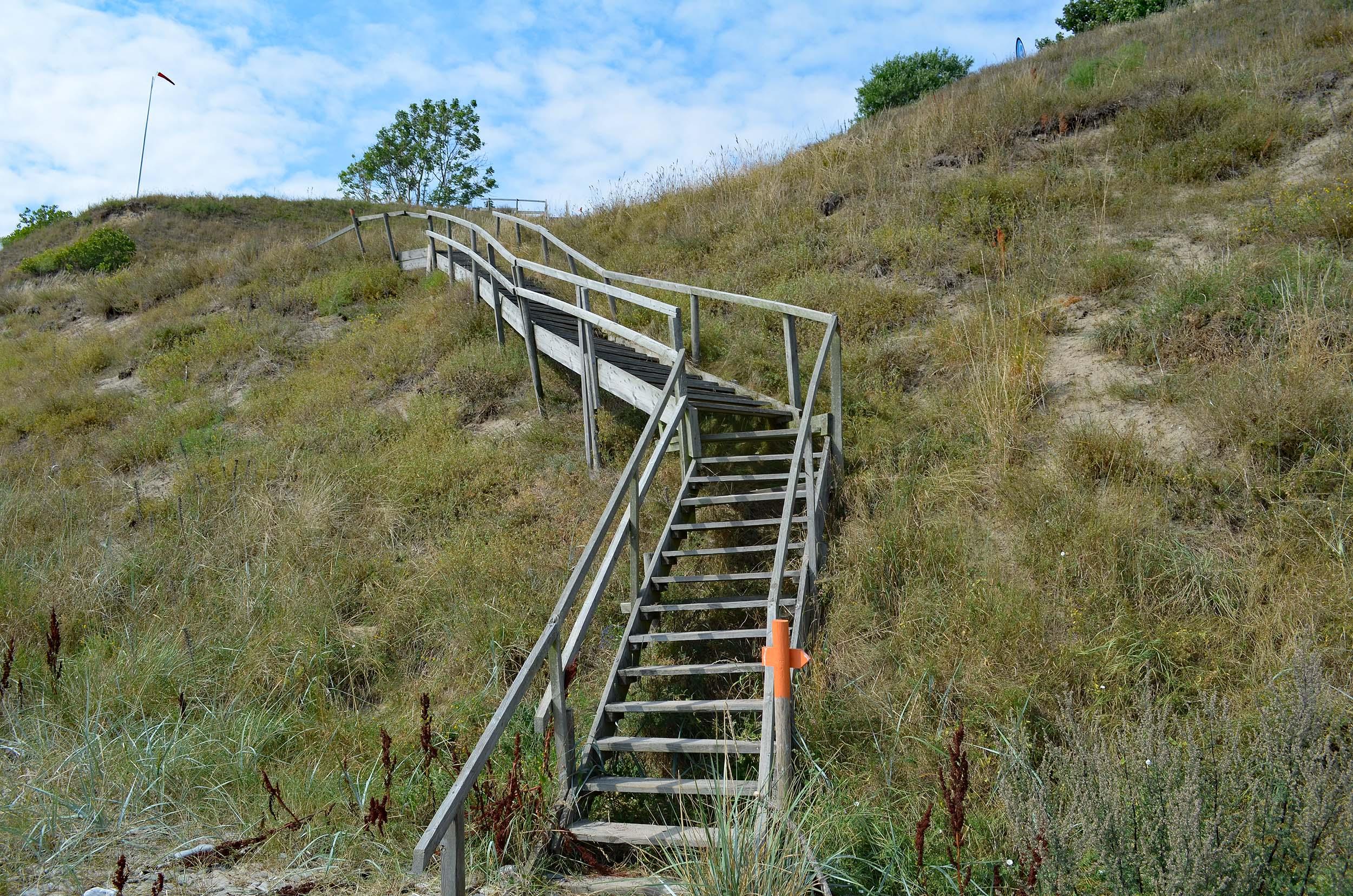 Aufstieg zur Steilküste