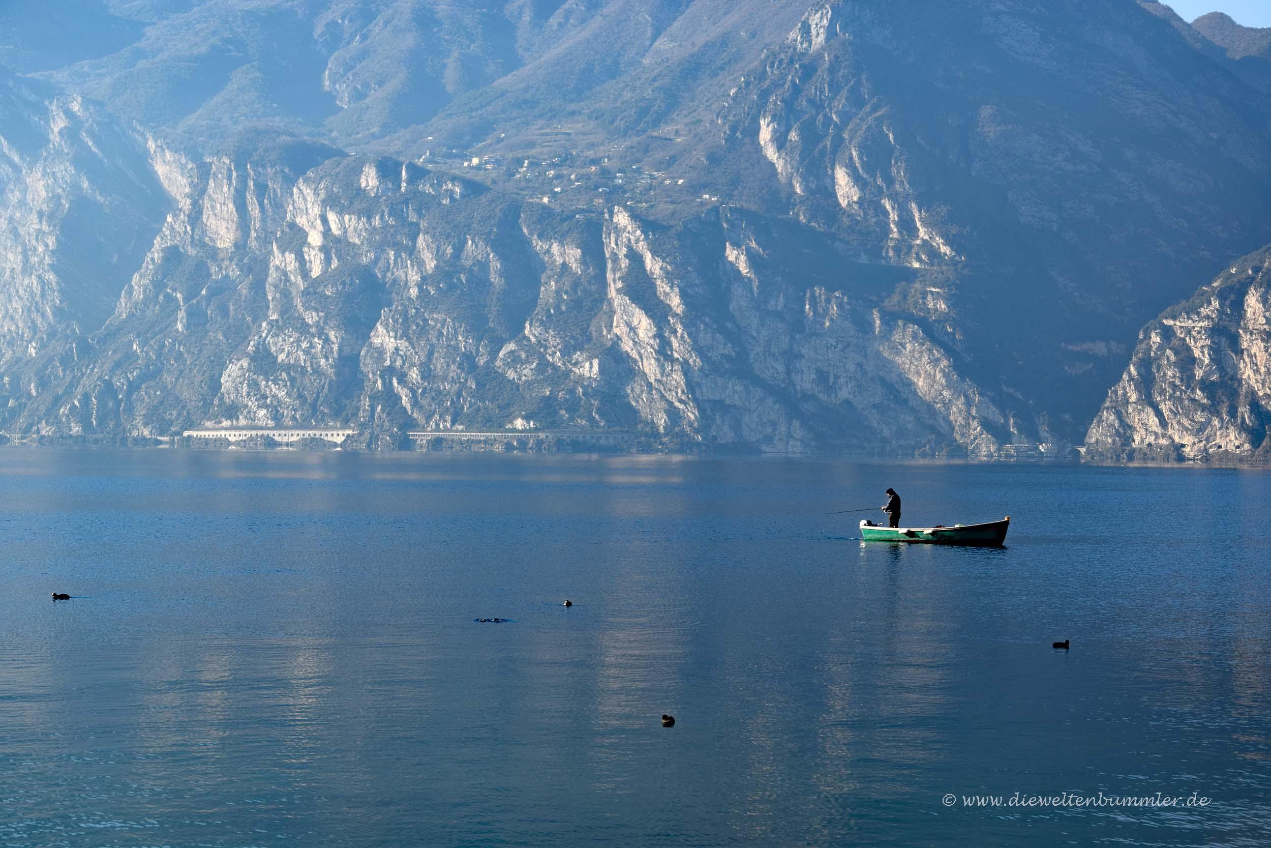 Fischer auf dem Gardasee