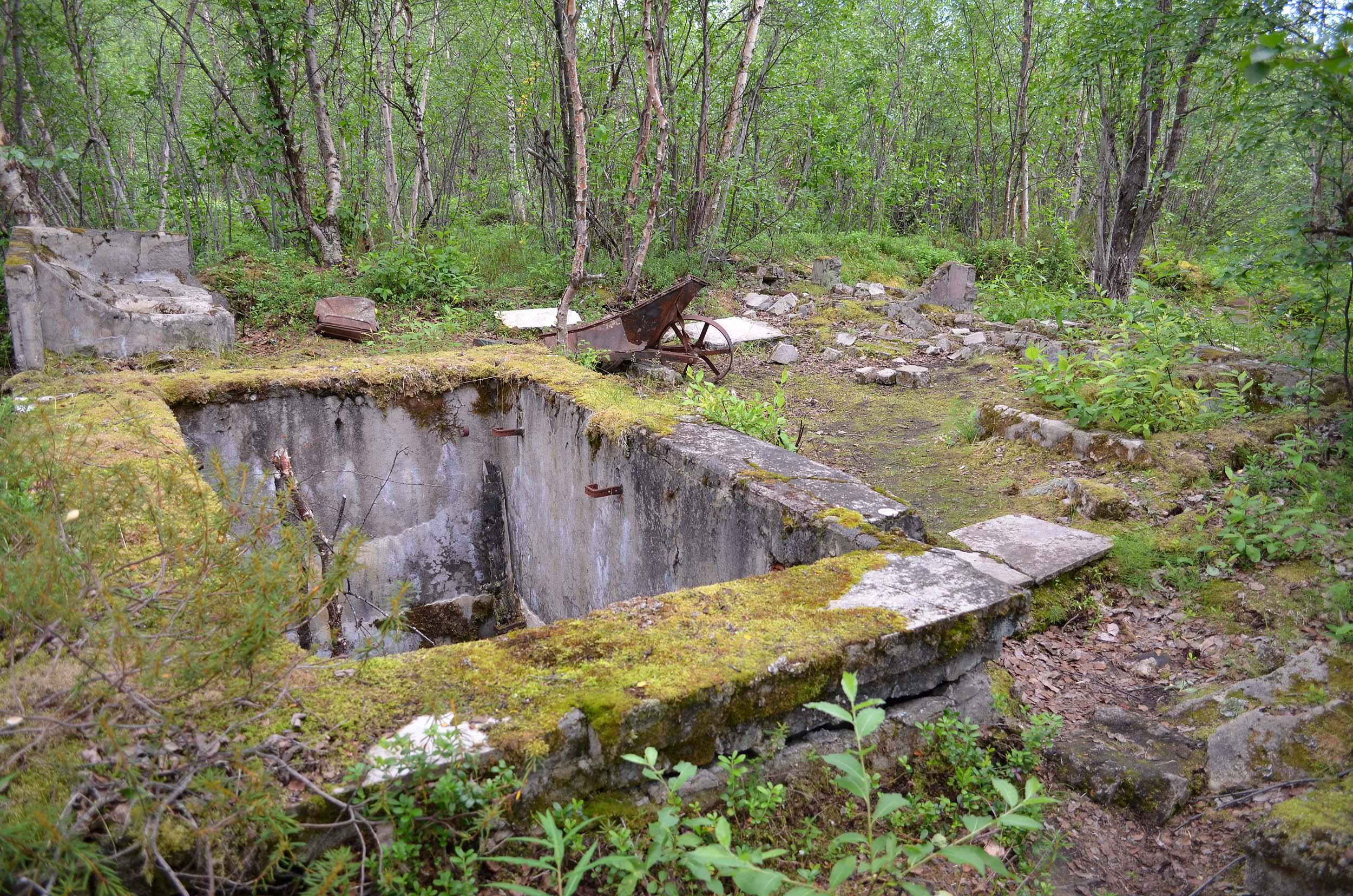 Grundmauern des Lazaretts