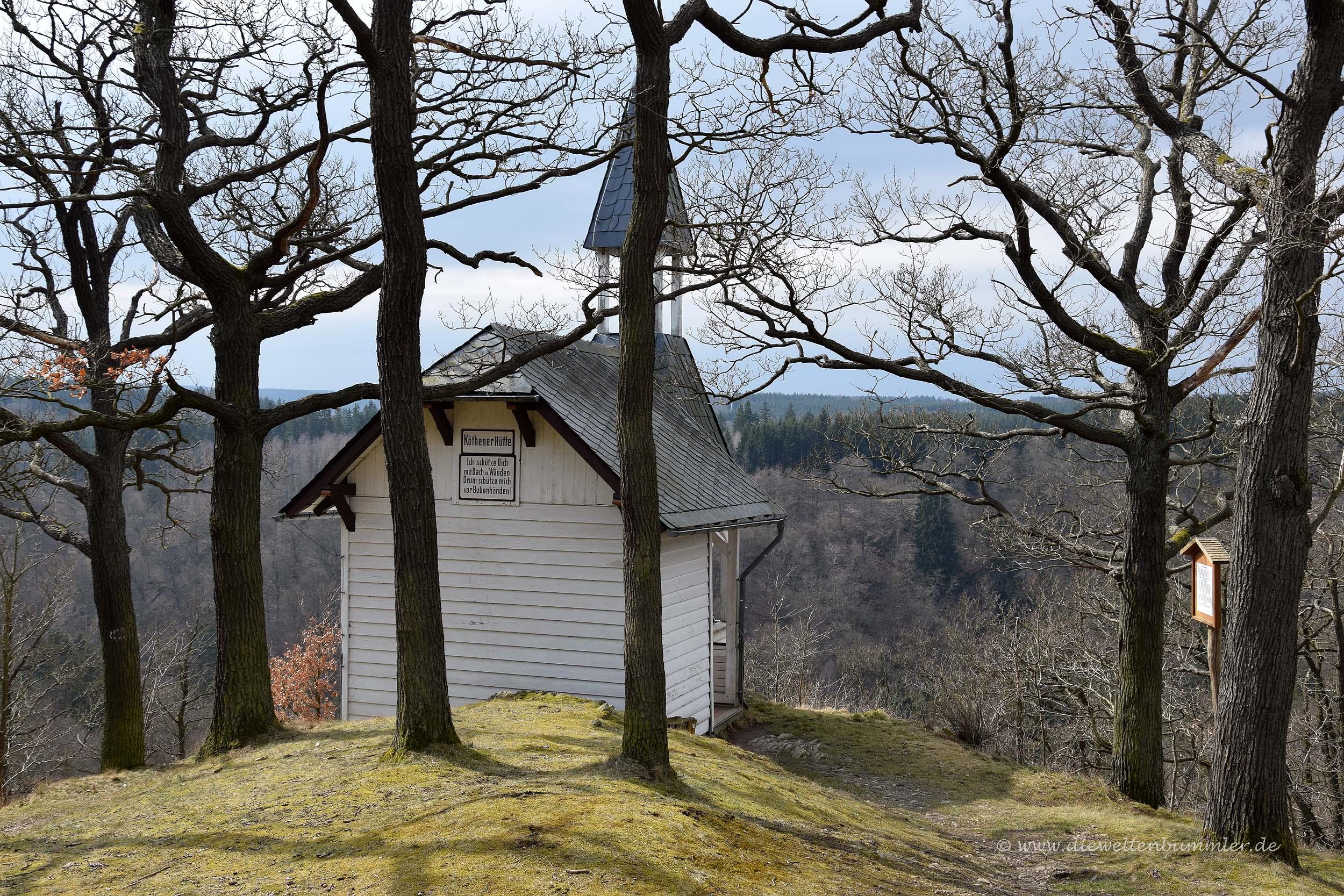 Schutzhütte über dem Selketal
