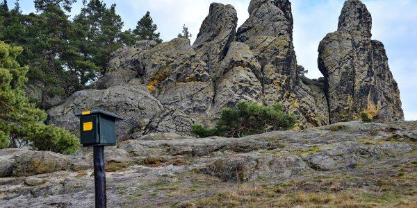 Teufelsmauer mit Stempelkasten