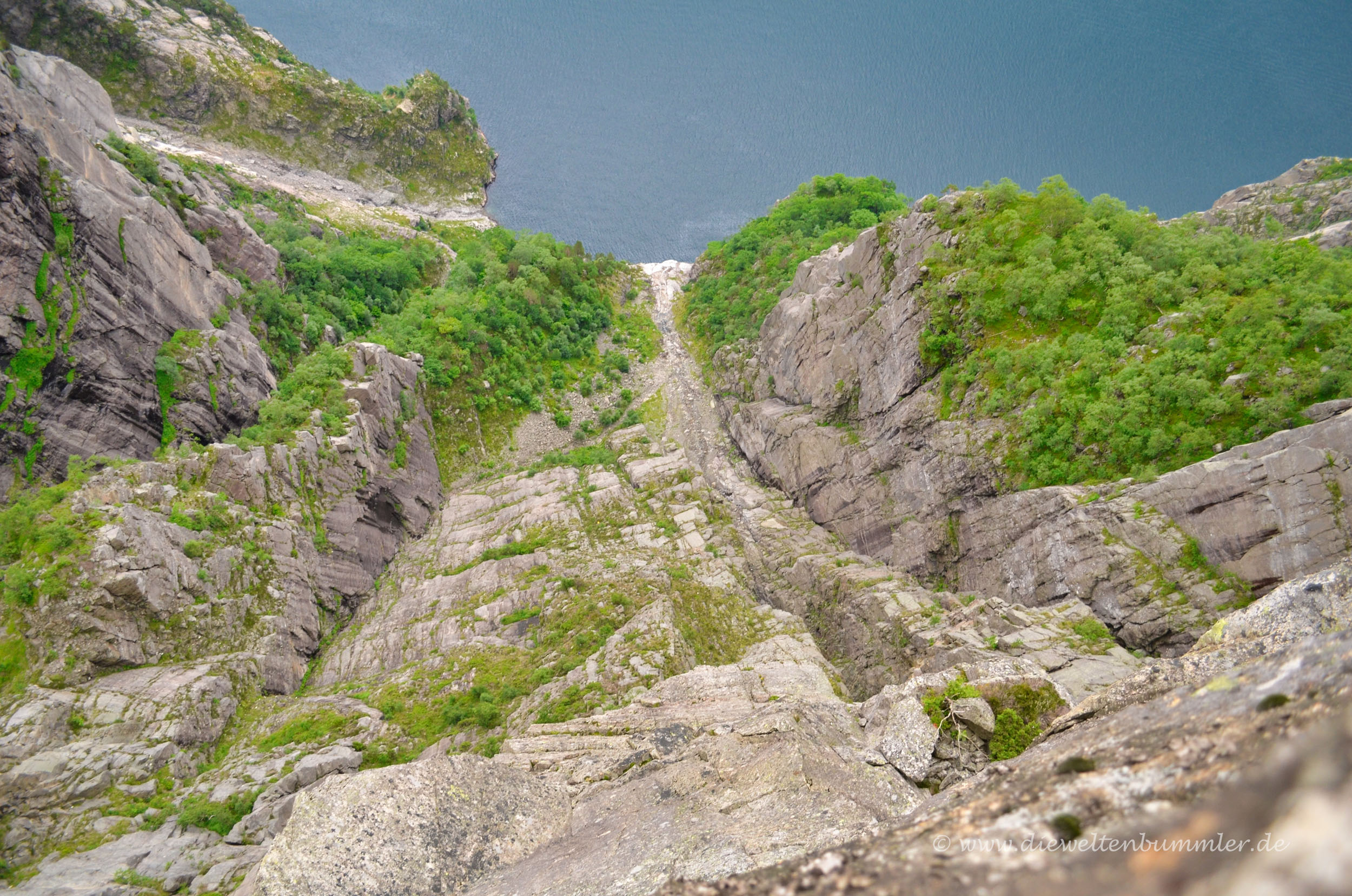 Blick hinab zum Lysefjord
