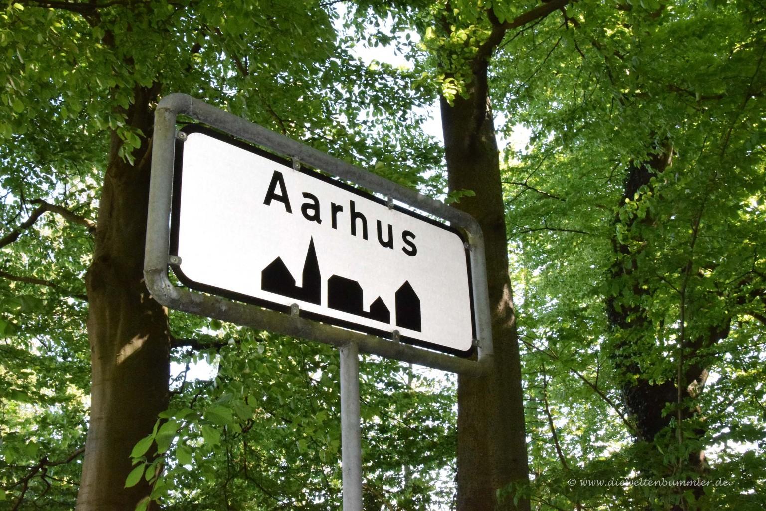 Ortseingangsschild von Aarhus