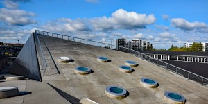 Das Dach von Godsbanen ist begehbar
