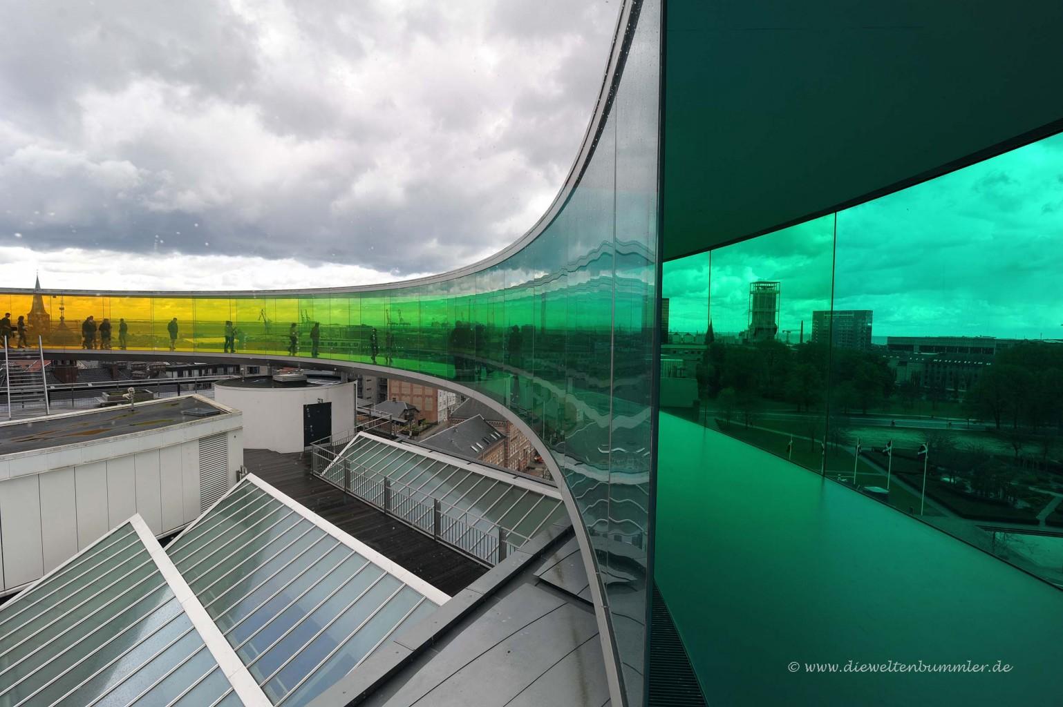 Rainbow-Panorama auf dem ARoS-Dach