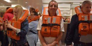 Michael Moll bei der Rettungsübung