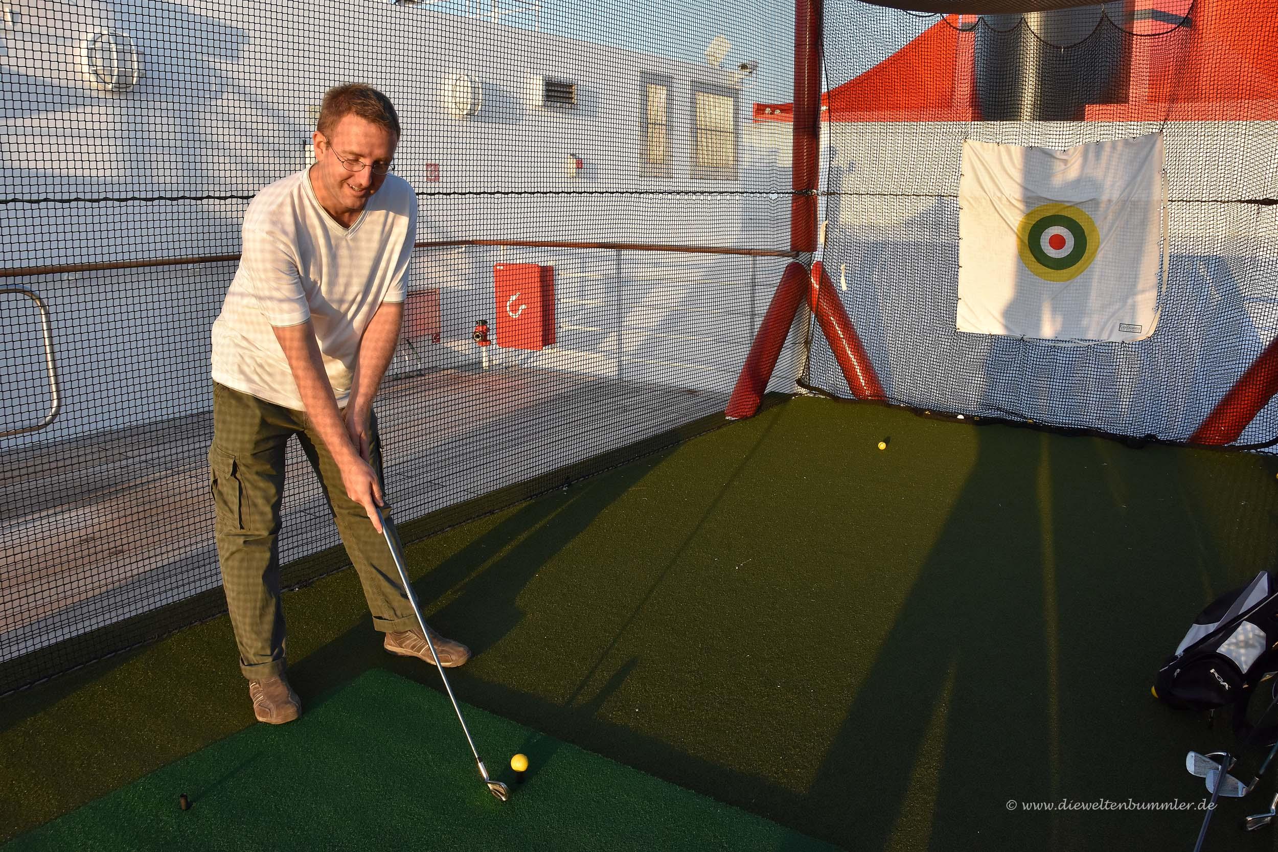 Golfabschlagplatz