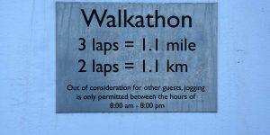 Hinweis auf den Walkathon