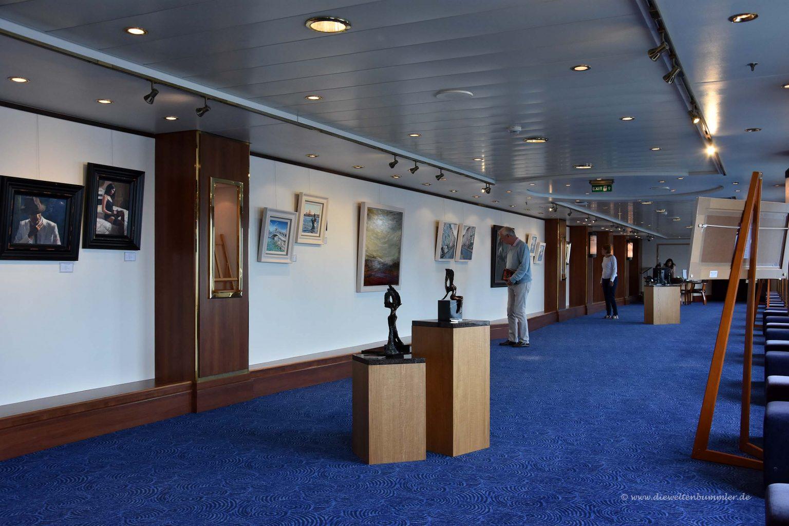 Kunstgalerie auf dem Schiff