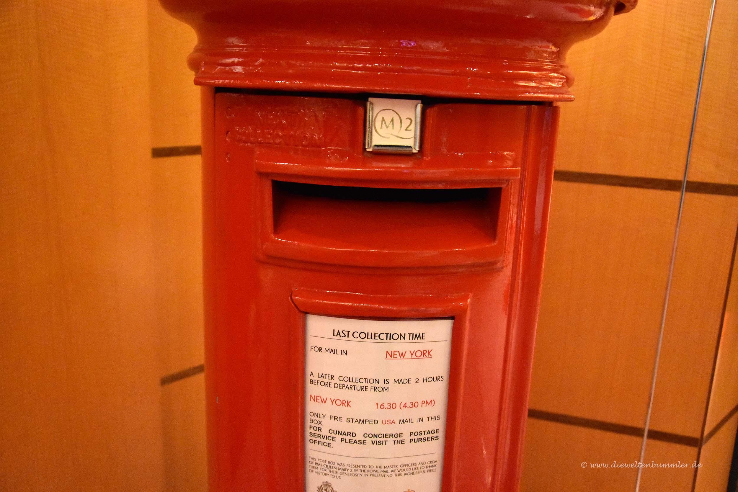 Briefkasten auf dem Schiff
