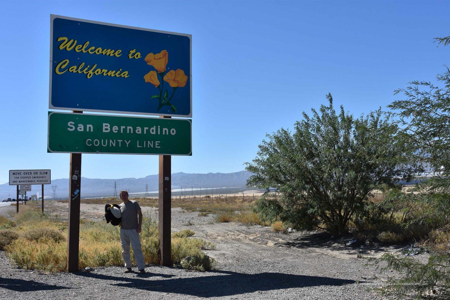 Staatsgrenze zu Kalifornien