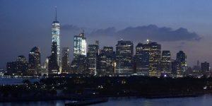 Die Hochhäuser von New York