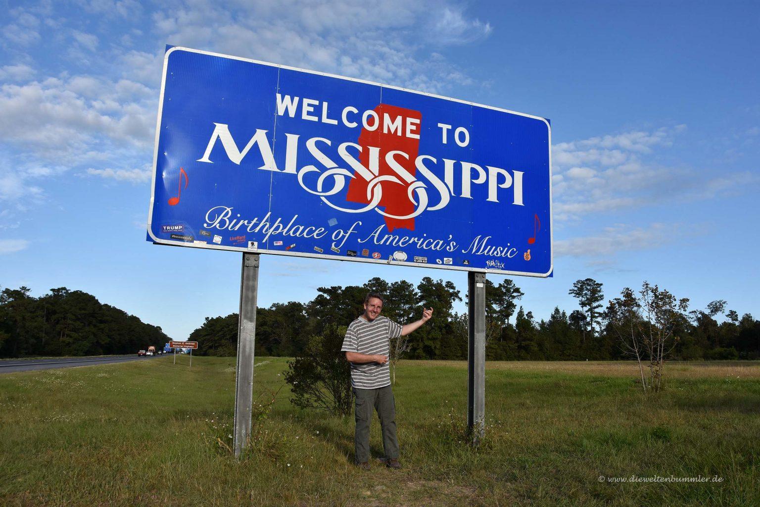 Luftgitarre in Mississippi