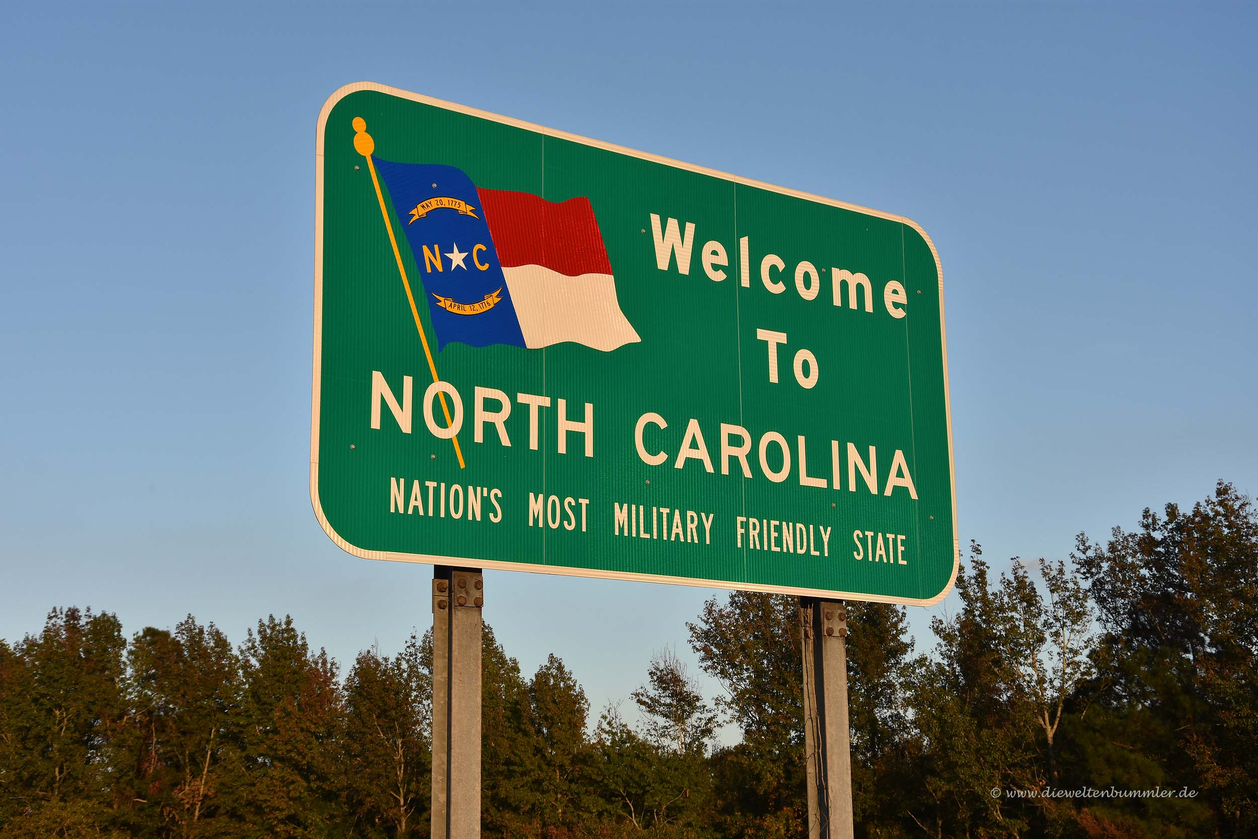 Einreise nach North Carolina