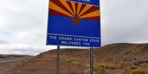 Arizona-Willkommensschild