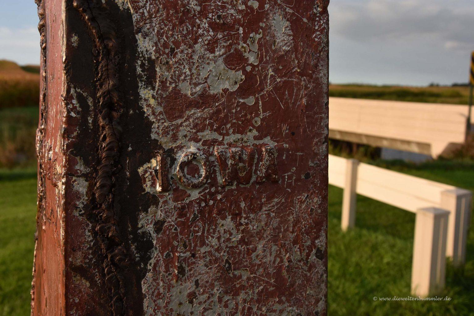 Inschrift Iowa