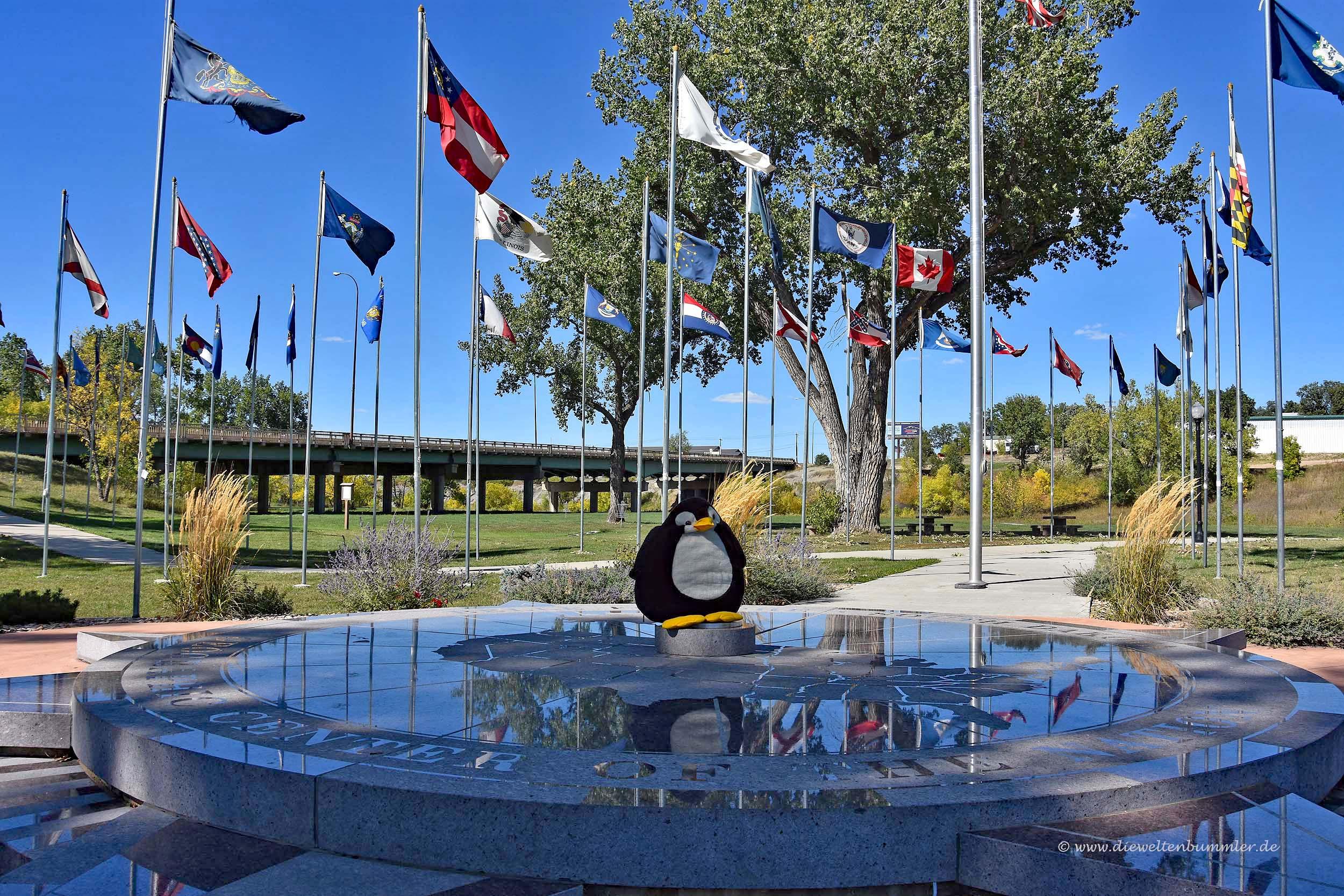 Pingu im Zentrum der USA