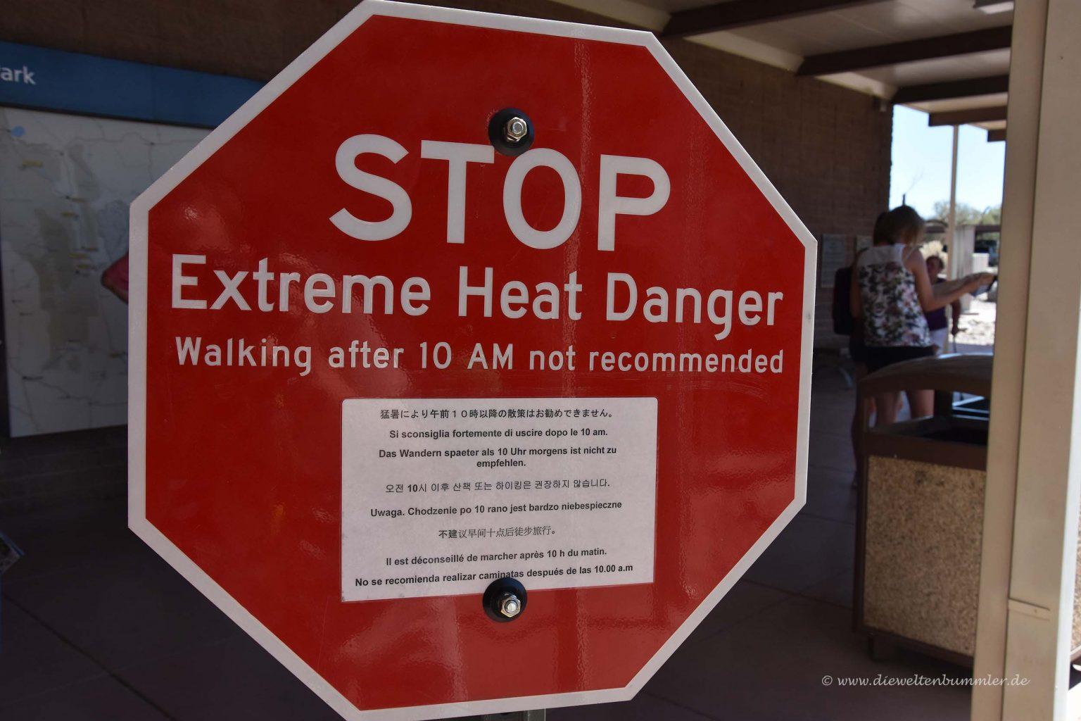 Nicht bei Hitze wandern