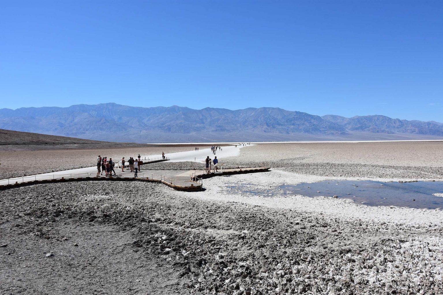 Salzige Landschaft im Badwater Basin