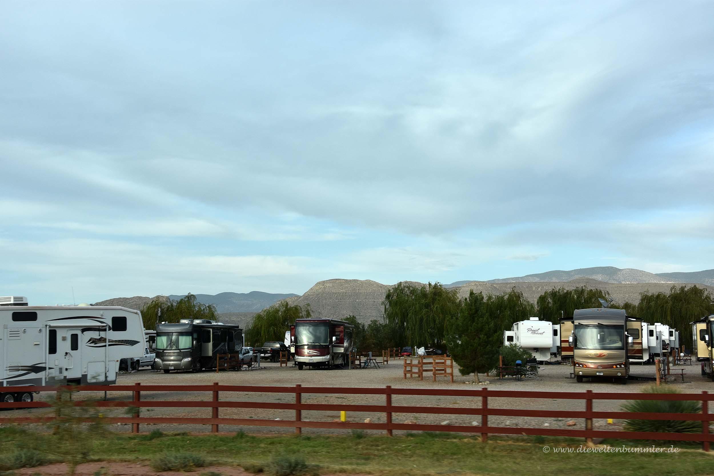 Campingplatz in New Mexico