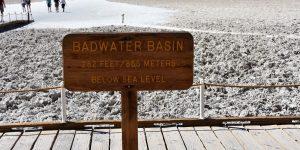 Badwater Basin unter dem Meeresniveau