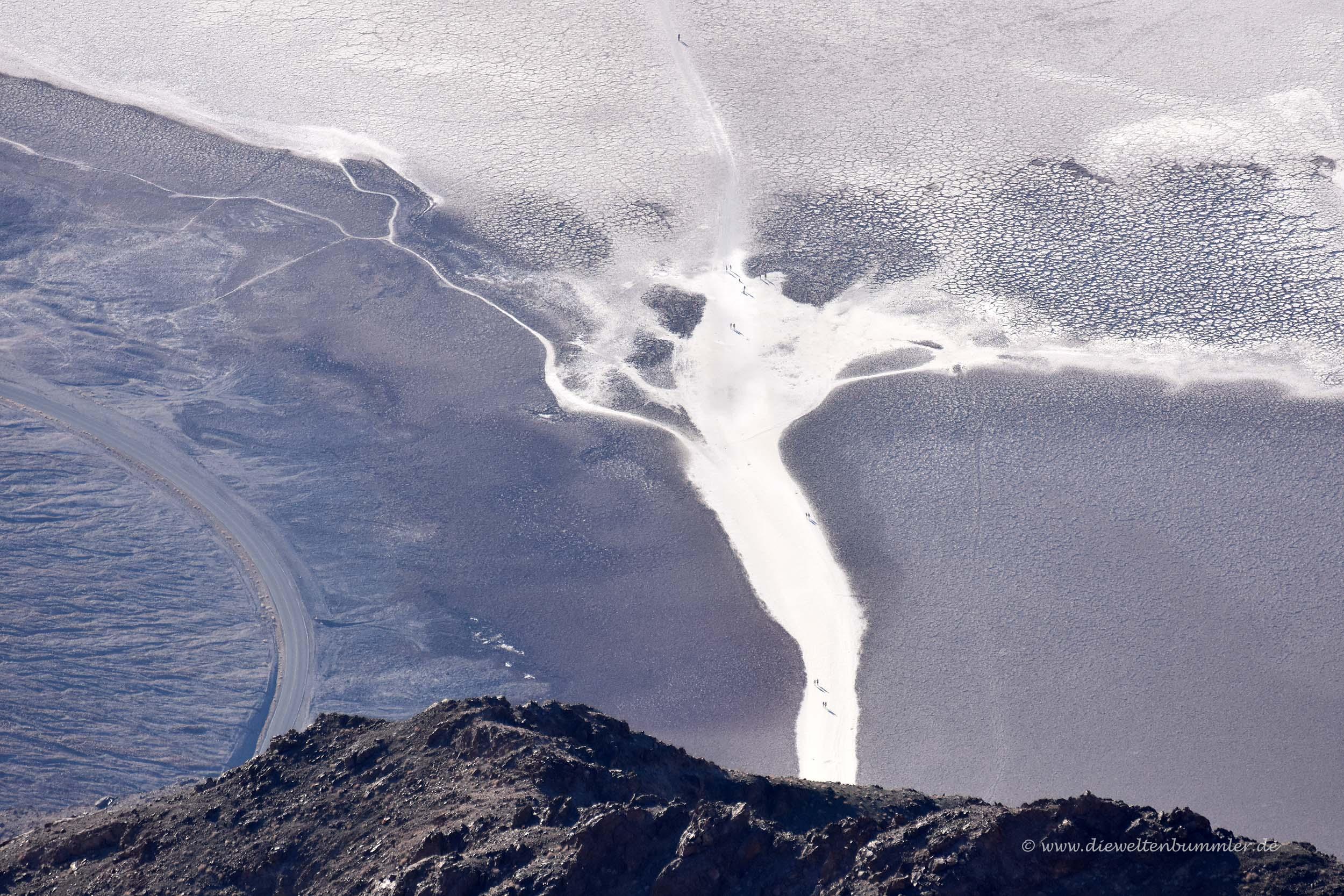 Das Badwater Basin von oben