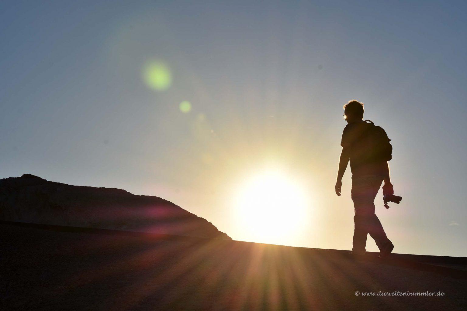 Wanderung im Sonnenuntergang