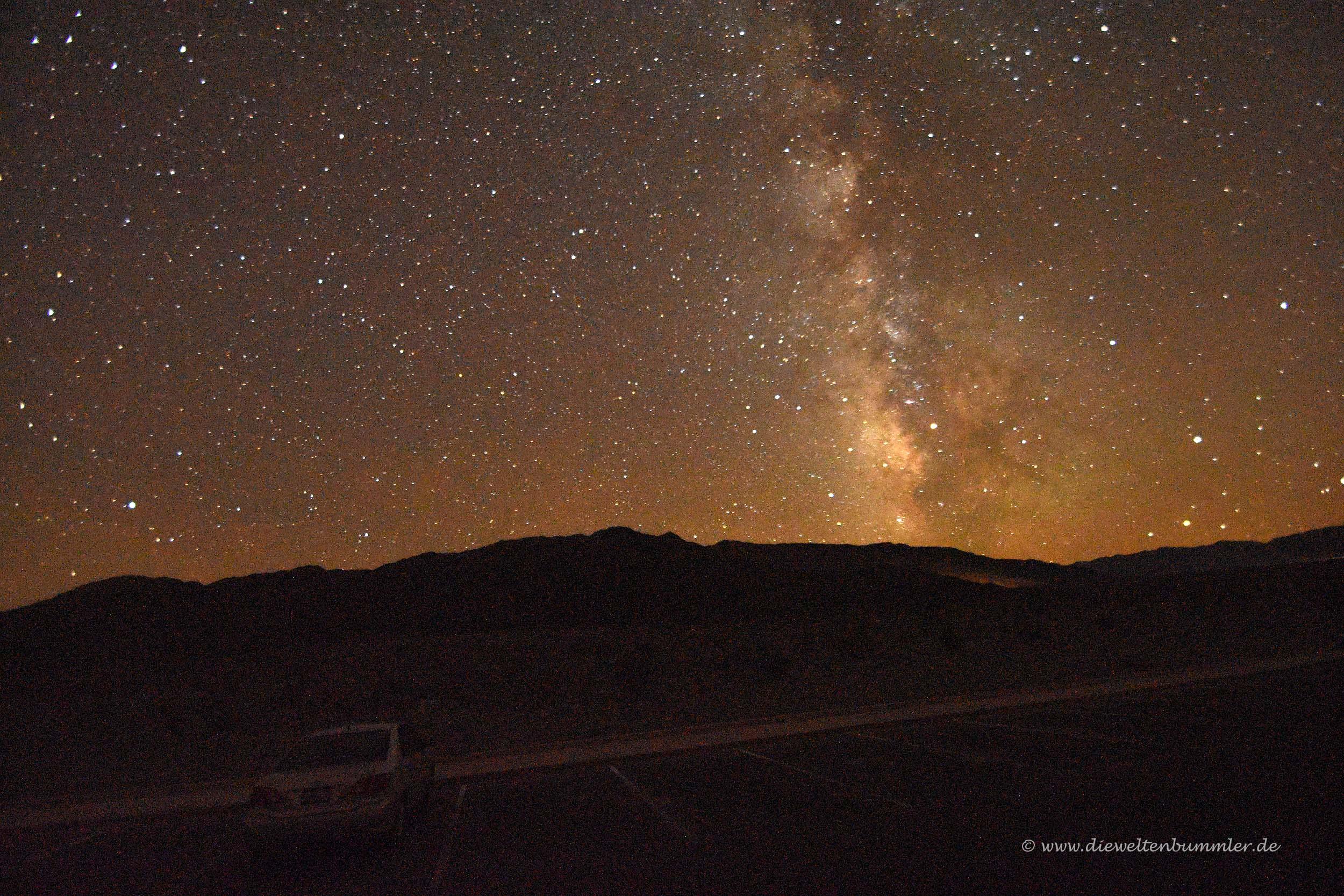 Im Death Valley kann man die Sterne beobachten