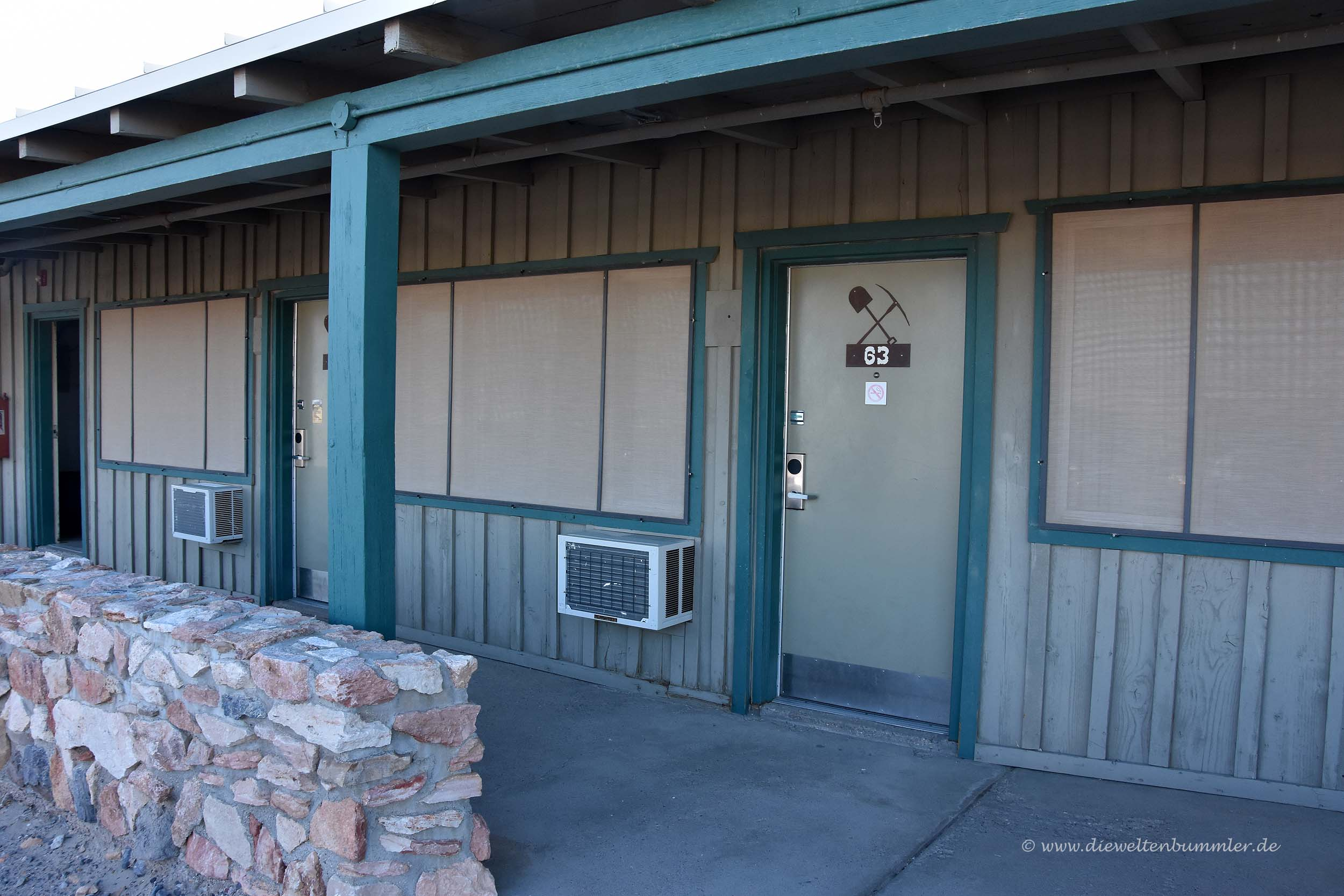Motelzimmer im Death Valley Nationalpark