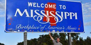 Willkommensschild von Mississippi