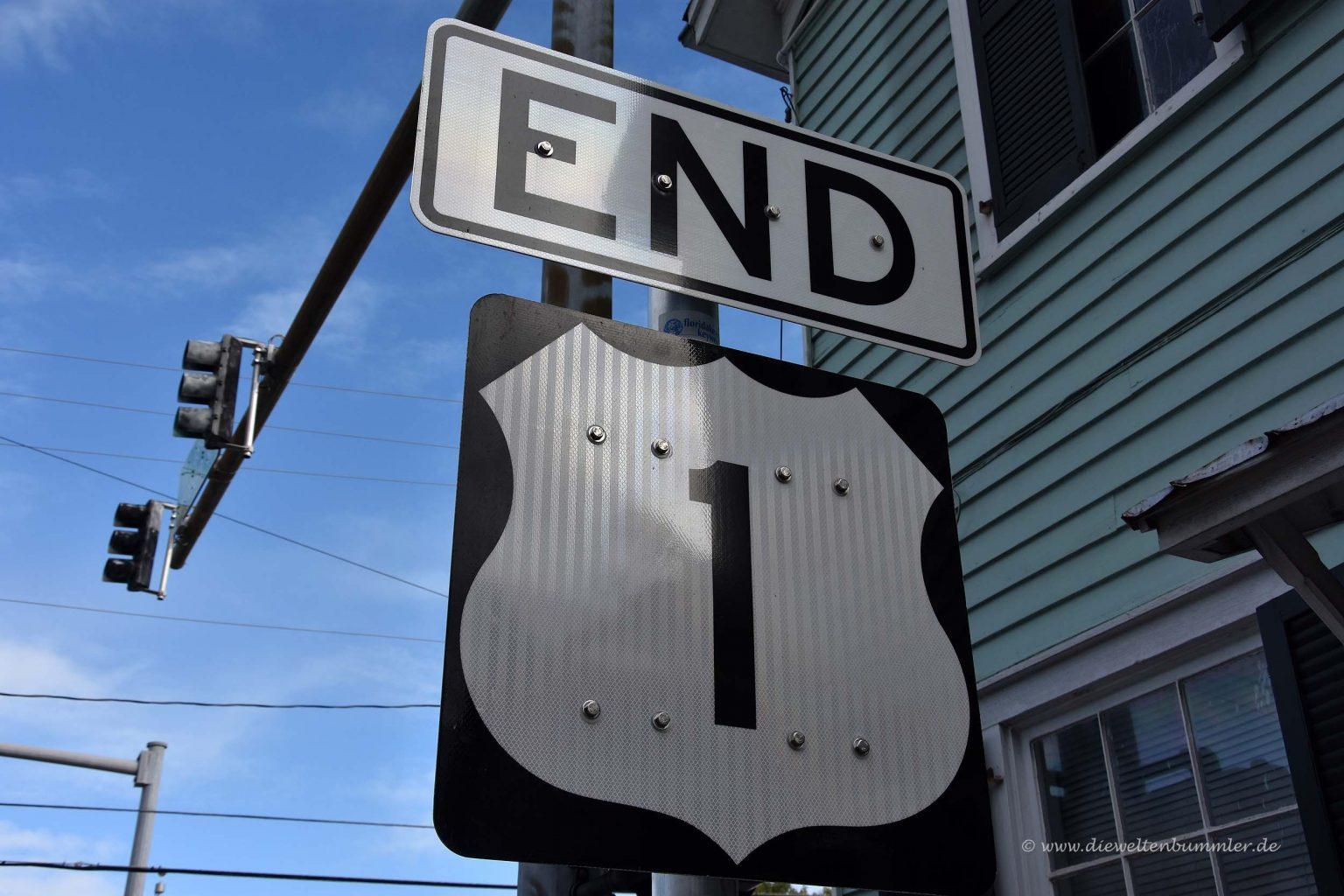 Ende des Highway 1