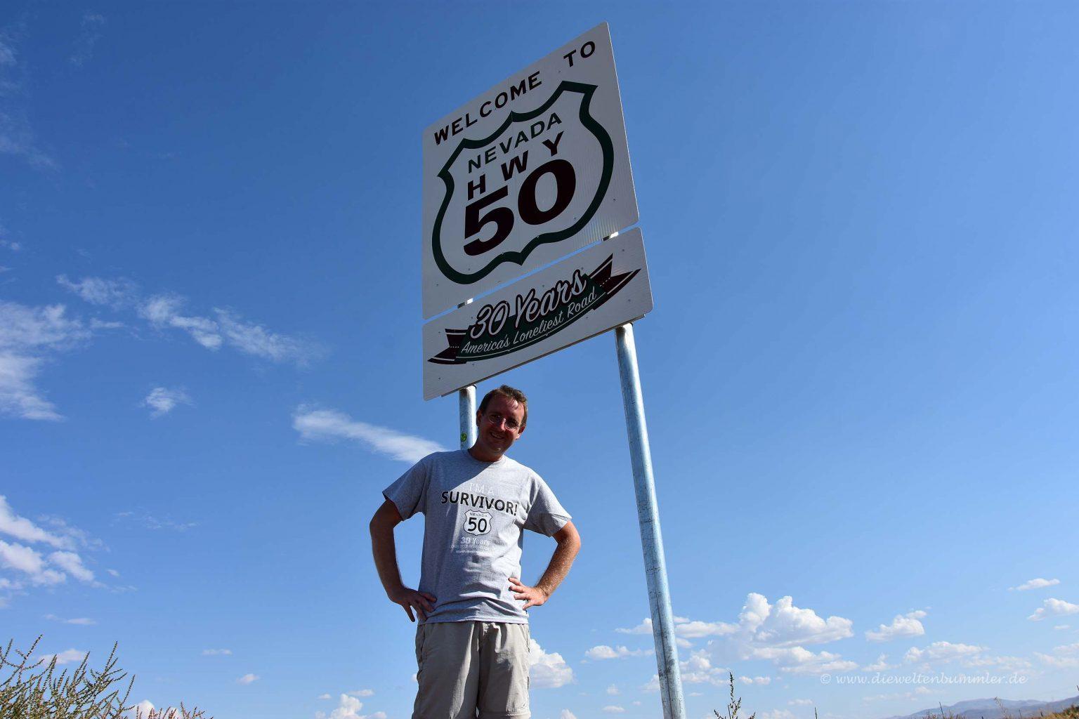 Michael Moll am Highway 50