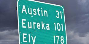 Ortschaften am Highway 50